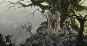 helge-c-balzer, dark-fantasy-art, dark-fantasy-artwork, Pathfinder, Paizo, Norns,
