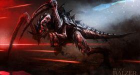 helge-c-balzer, dark-fantasy-art, dark-fantasy-artwork, Games-Workshop, Tyranid, Tyranids, Hive-Fleed, Schwarm-Flotte, Tyranide, Tyraniden, Warhammer-40k, Warhammer-40.000, Hormagaunt, Black-Library, Valedor,