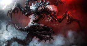 helge-c-balzer, dark-fantasy-art, dark-fantasy-artwork, Valedor, Games-Workshop, Tyranid, Tyranids, Hive-Fleed, Schwarm-Flotte, Tyranide, Tyraniden, Warhammer-40k, Warhammer-40.000, Genestealer, Black-Library,