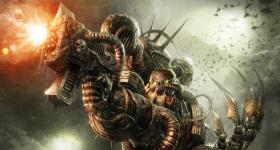 helge-c-balzer, dark-fantasy-art, dark-fantasy-artwork, Nurgle, Chaos, Warhammer-40k, Warhammer-40.000, Games-Workshop, Chaos-Space-Marine, Nurgle-Space-Marine,