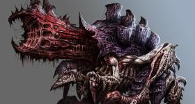 helge-c-balzer, dark-fantasy-art, dark-fantasy-artwork, Games-Workshop, Tyranid, Tyranids, Hive-Fleed, Schwarm-Flotte, Tyranide, Tyraniden, Warhammer-40k, Warhammer-40.000, Exocrine,
