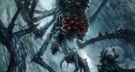 helge-c-balzer, dark-fantasy-art, dark-fantasy-artwork, Tolkien, Silmarillion, Silmaril, Ungoliant, Melkor, Morgoth,