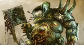 helge-c-balzer, dark-fantasy-art, dark-fantasy-artwork, Nurgle, Chaos, Warhammer, Games-Workshop, nurgle-chaos-lord, nurgle-lord-of-plague, decay, verfall, champion-of-nurgle, nurgle-champion