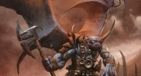 helge c. balzer, dungeons & dragons, DnD, half-giant, half-blue-dragon, character