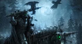 helge c. balzer, demon, knight, evil, unicorn, rider, axe, crow, dark fantasy