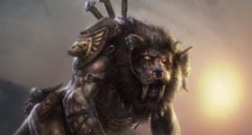 helge c. balzer, wildcat-creature, felis, arakne, character-design, concept-art, dark fantasy,